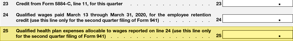 IRS Form 941 Line 25