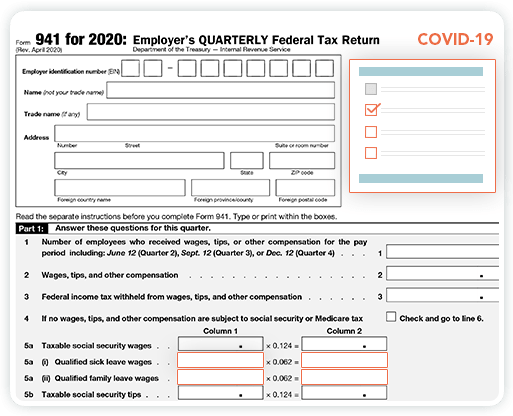 New Form 941 for 2020
