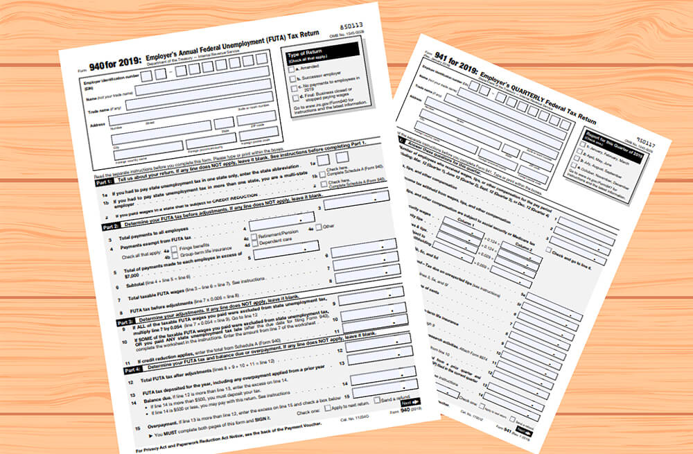 IRS Payroll and Employment tax forms
