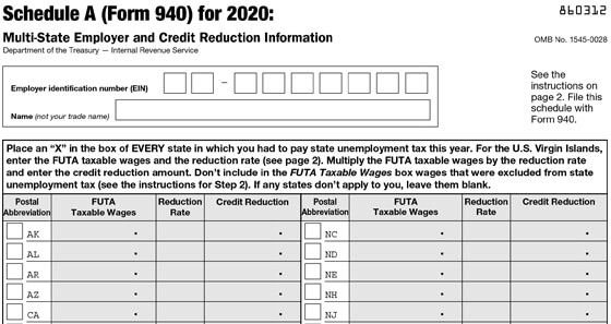 Form 940 for 2019