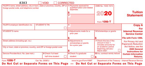 IRS Form 1098-T 2018