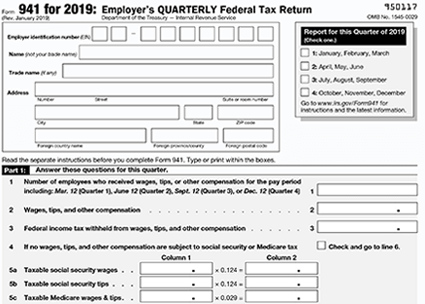 federal form 941  WHERE TO FILE 15 QUARTERLY TAX RETURNS