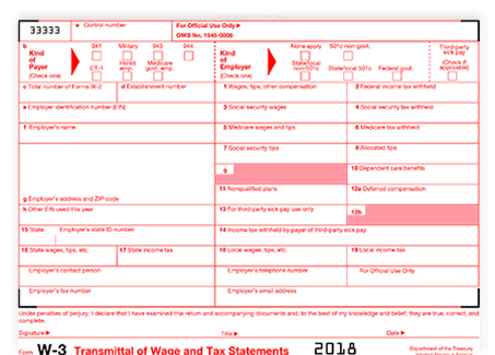 auto-generate form w-3 by filing 2018 w-2 with our software