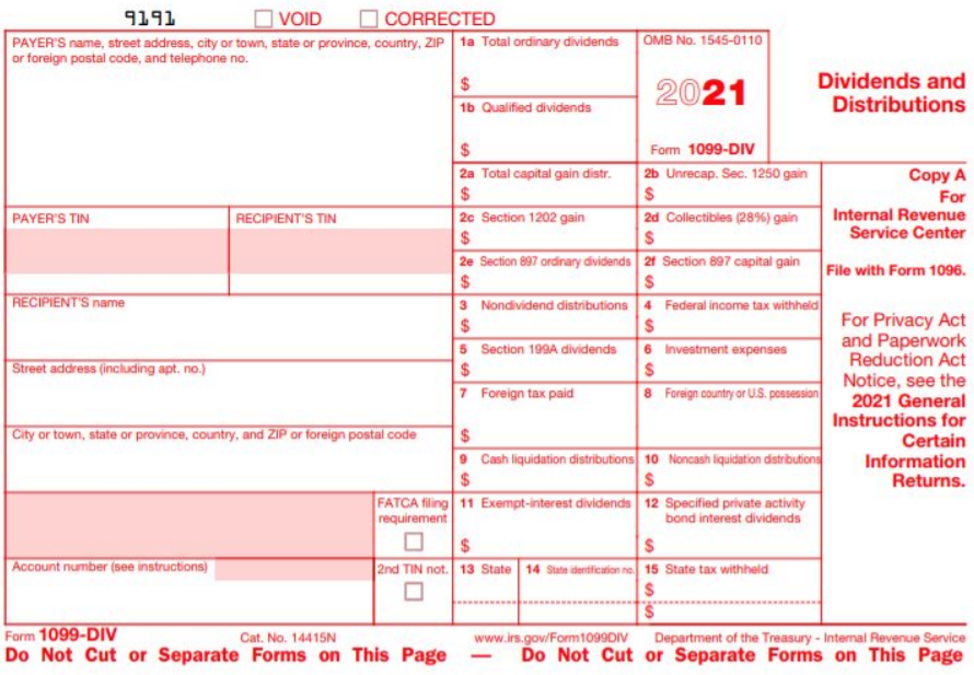 2019 IRS Form 1099-INT