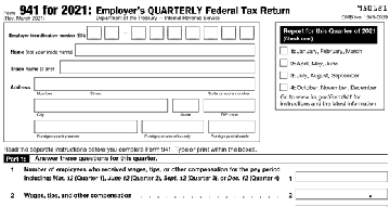 IRS Form 941 for 2021