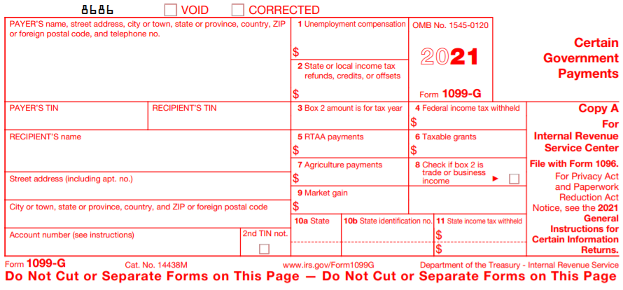 2020 IRS Form 1099-G