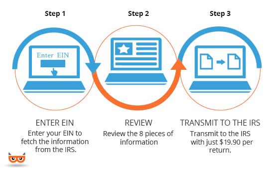 File Form 990-N (e-Postcard) Online in Simple 3-Steps